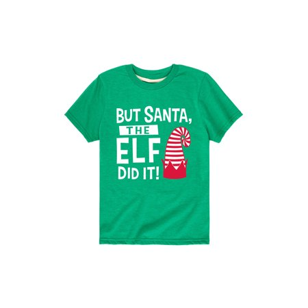 Girl And Boy Elf On The Shelf (The Elf Did It  - Toddler Short Sleeve)