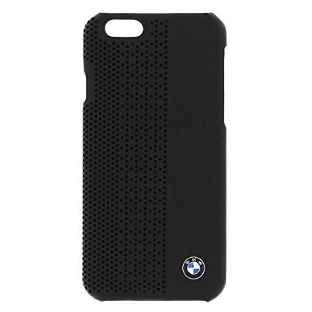 Signature Leather Perforated Case (BMW Official iPhone 6 Signature Collection Genuine Leather Hard Case Perforated BLACK - BMHCP6PEB )