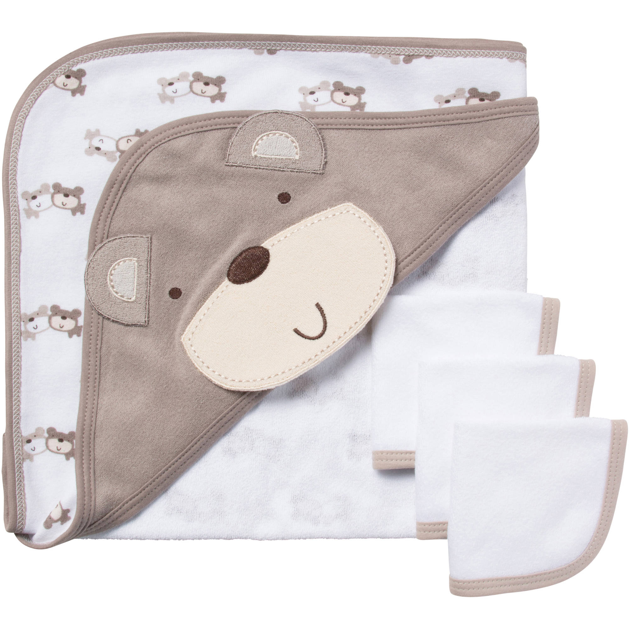 Gerber Newborn Baby Neutral Bath Set, 4-Piece