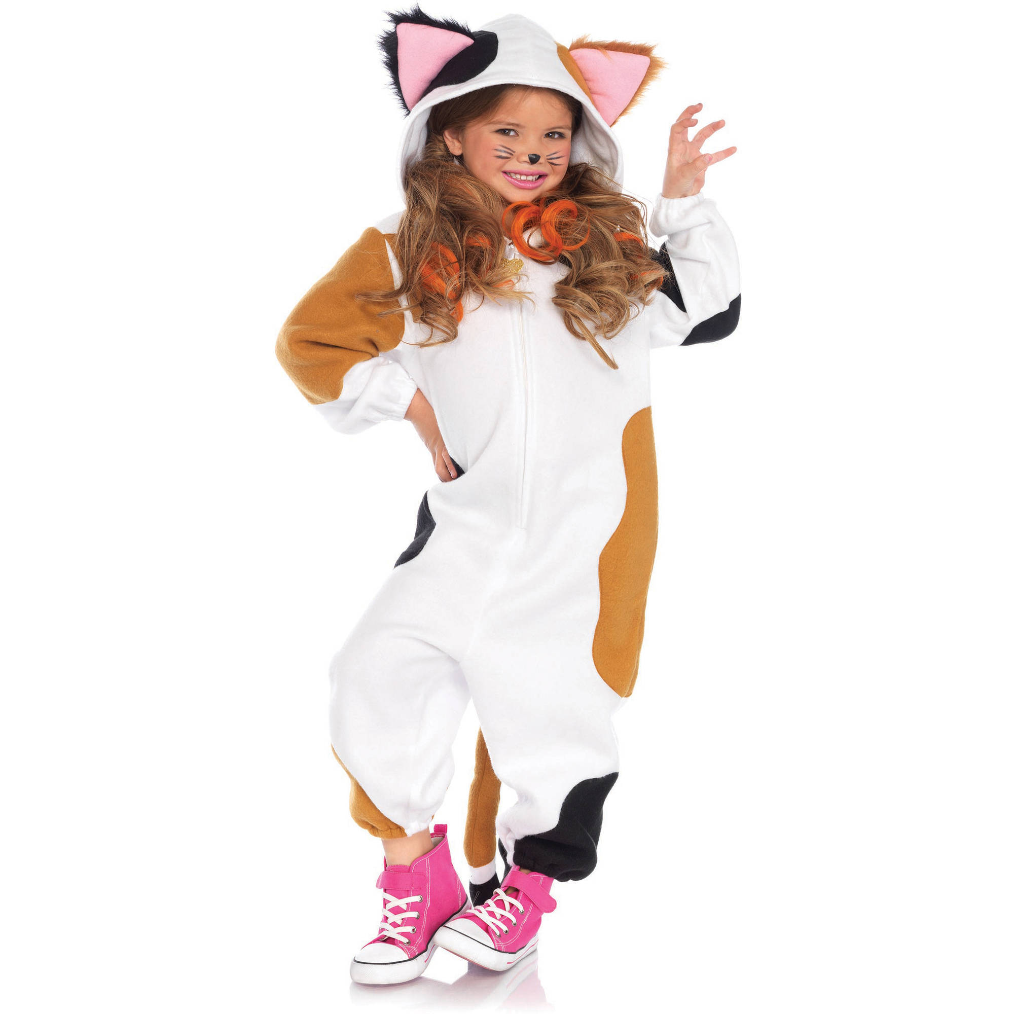 Cat Calico Kigarumi Child Halloween Costume, One Size, M/L (8-12)