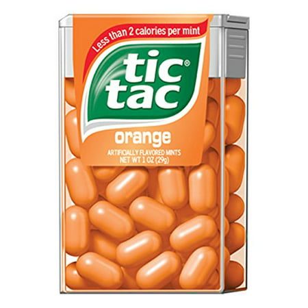 6 Pack - Tic Tac Orange 1oz Each (Blue Tic Tacs)