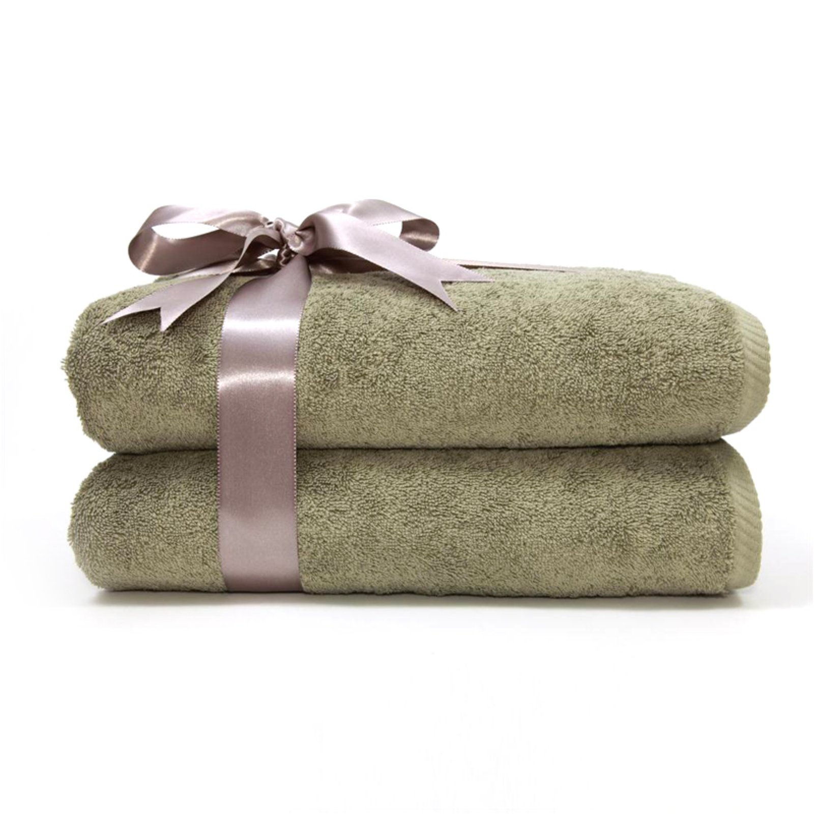 Luxury Hotel & Spa 100% Turkish Cotton Soft Twist Bath Towels Set of 2 by Linum Home Textiles