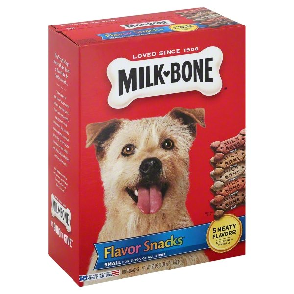 Milk-Bone Flavor Snacks Dog Biscuits, Small, Treats For Dogs Of All Sizes, 60-Ounce