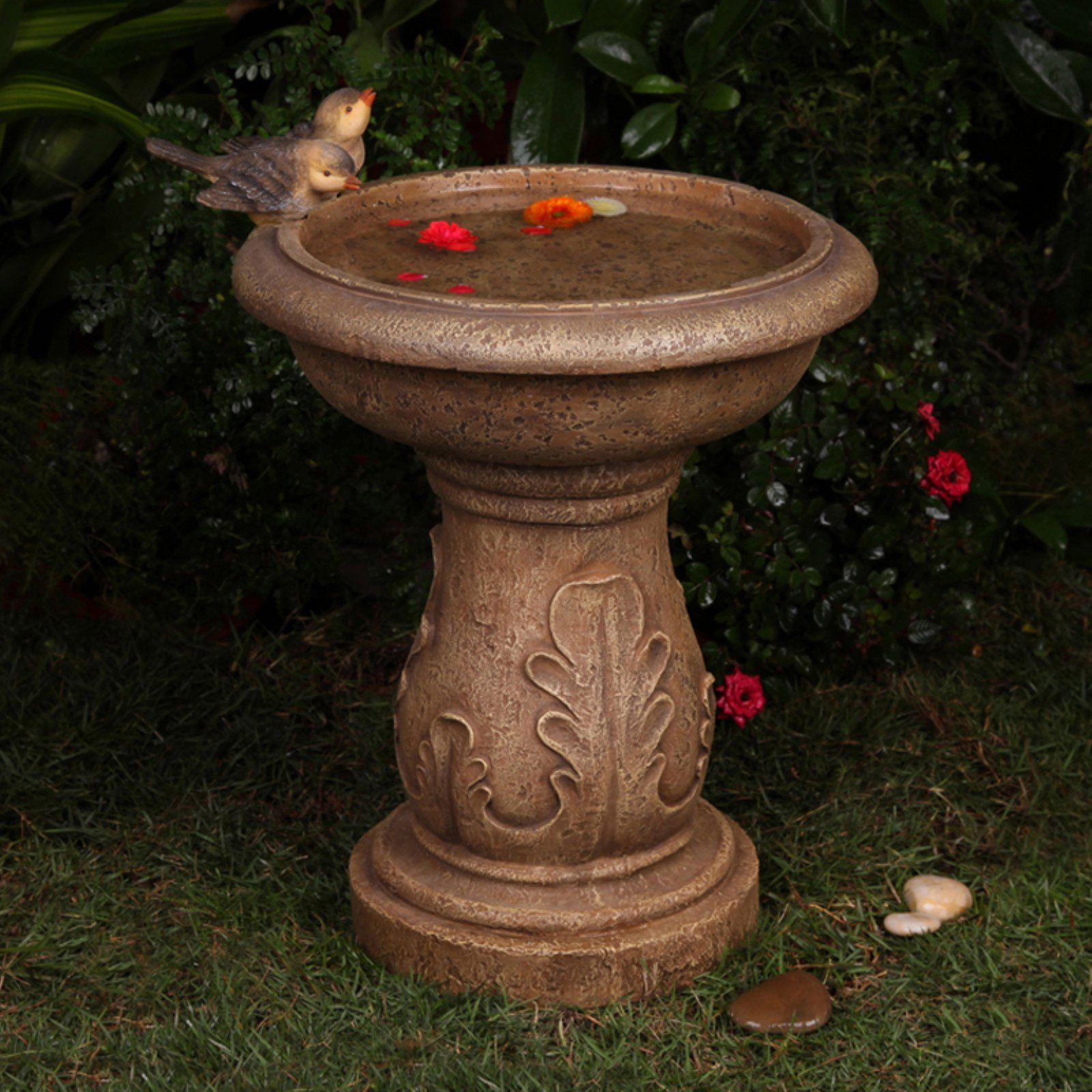 Jeco Two Birds Classical Garden Birdbath