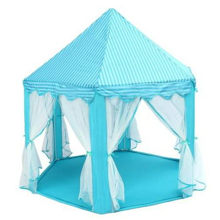 Led Light Princess Castle Pop Up Play Tent Kids Girl Play