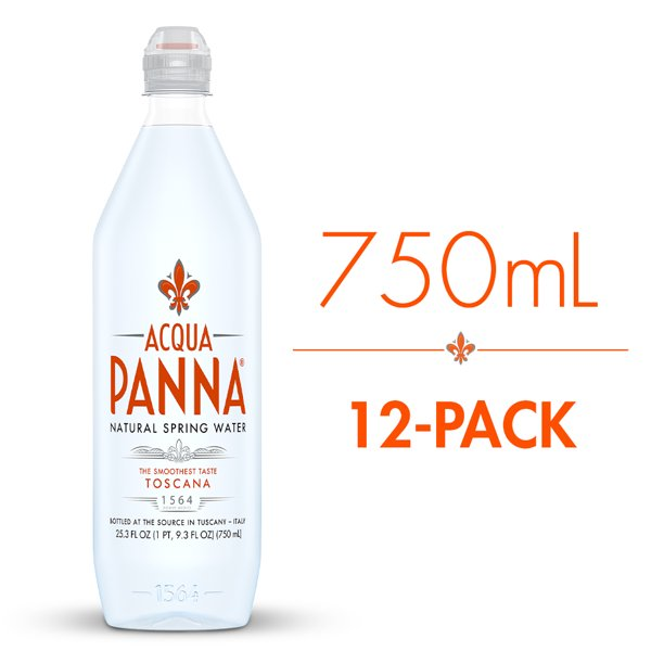 Acqua Panna Natural Spring Water, 25.3 fl oz. Plastic Bottles (12 Count)