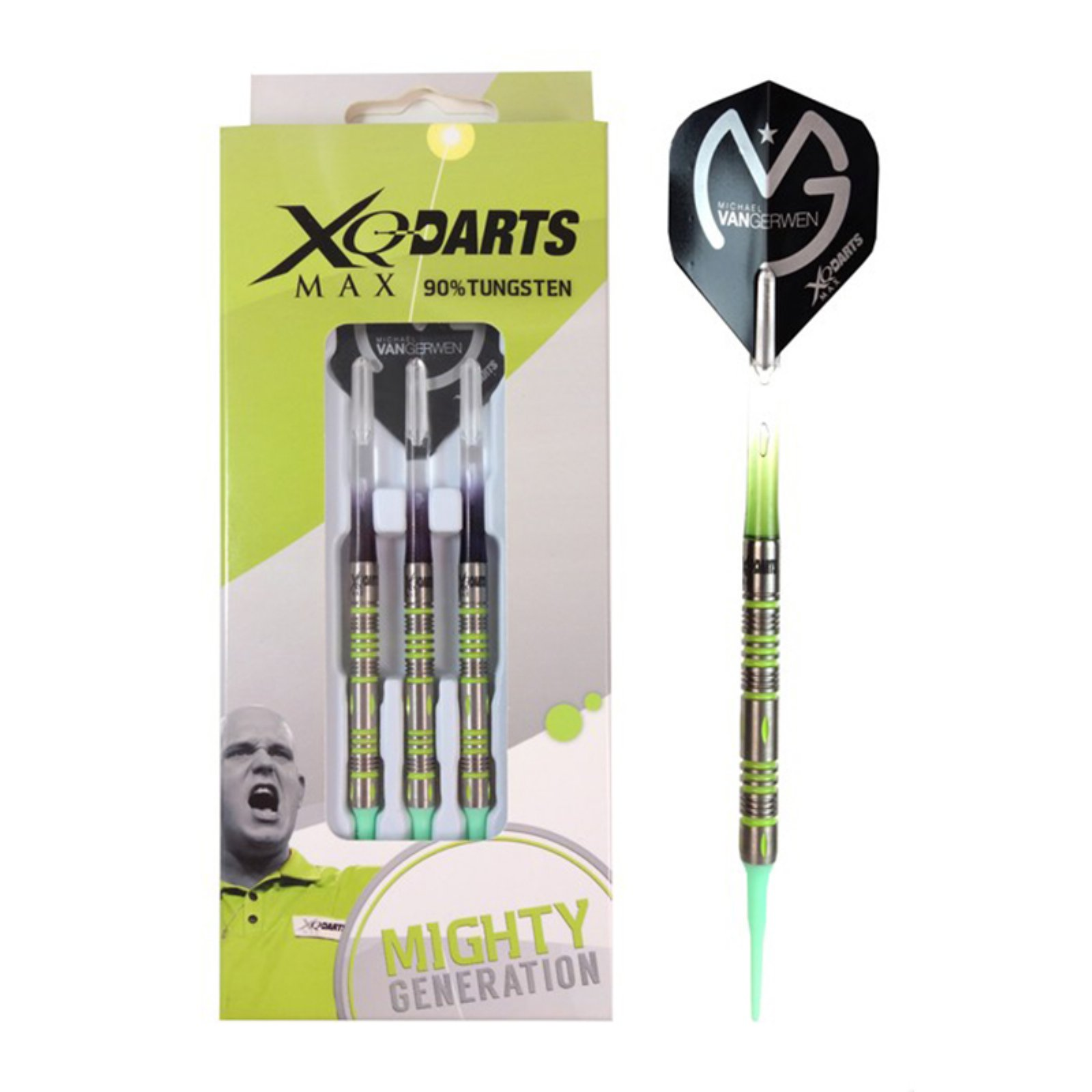 XQ-MAX Soft Dart Pfeile Darts Michael van Gerwen MvG Mighty Generation II 18 gr