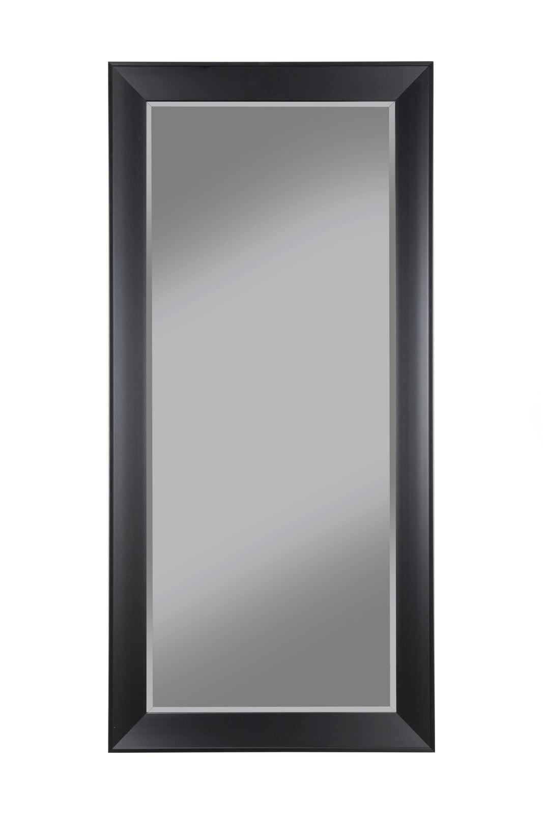 Contemporary Black Full Length Leaner Mirror by Sandberg Furniture