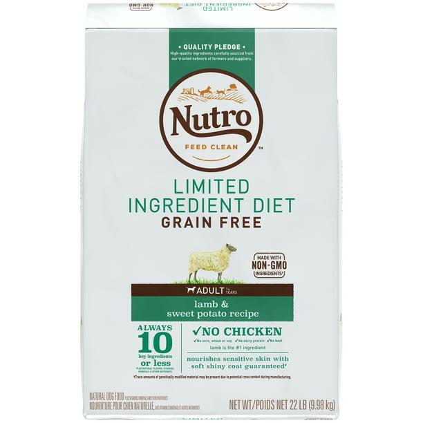 NUTRO Limited Ingredient Diet Adult Dry Dog Food Lamb & Sweet Potato, 22 lb. Bag
