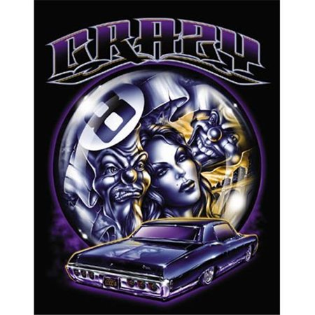 Hot Stuff 1085-08x10-LO 8 x 10 in. Crazy8 Lowrider Poster Print