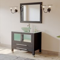 Cambridge Plumbing Amethyst 36'' Single Bathroom Vanity Set with Mirror