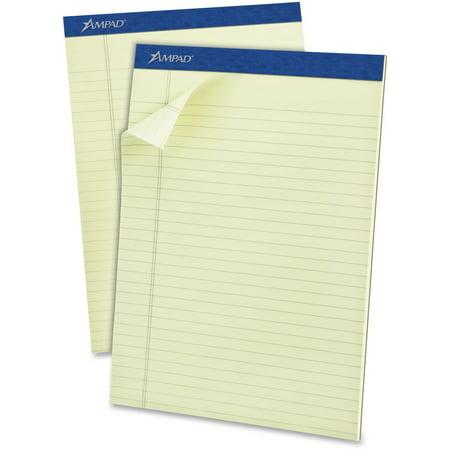 Ampad, TOP20375, Top-bound Green Tint Ruled Writing Pads, 1 Dozen Ampad Heavyweight Writing Pad