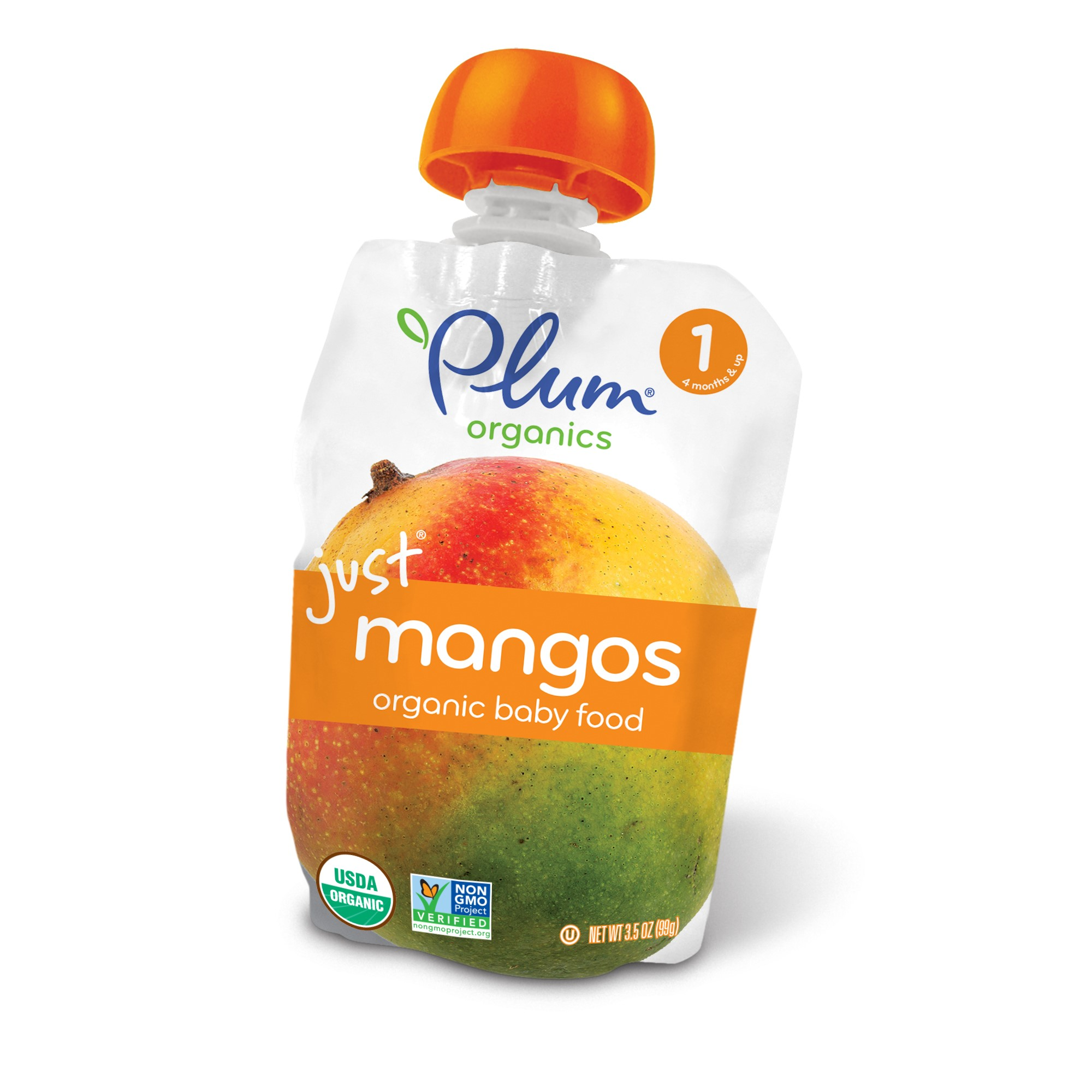 Plum Organics Organic Baby Food, Stage 1, Just Mangos, 3.5 Oz