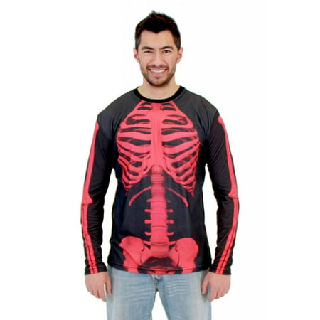 Skeleton Adult Long Sleeve Costume T-Shirt