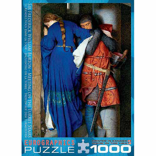 EuroGraphics Meeting Turret Stairs by Frederick William Burton 1000-Piece Puzzle