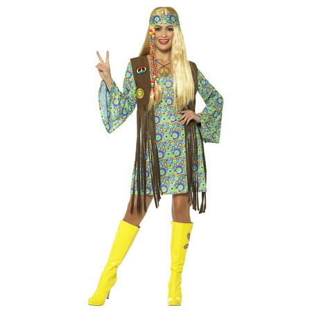 60s Hippie Chick Adult Costume - Plus Size - 60s Hippie Girl