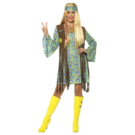 60s Hippie Chick Adult Costume - Plus Size 1X