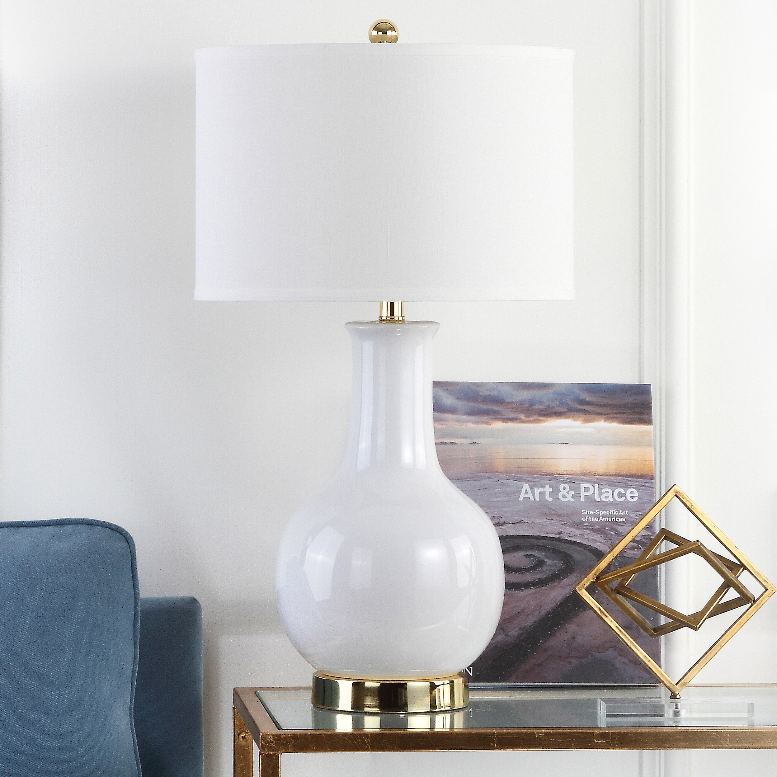 Safavieh Ceramic Paris Solid Glam Lamp with CFL Bulb