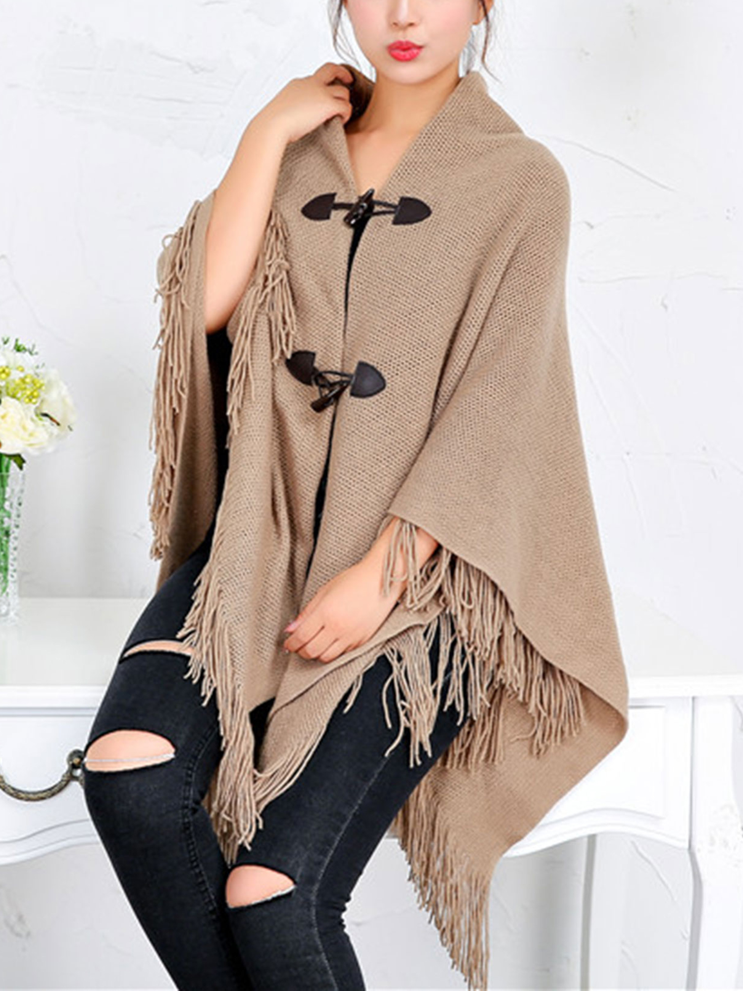 Ready to ship Knitted cape Knitted cape women Cape coat Wool cape Women/'s  poncho cape Poncho cape Women/'s cape coat Women/'s cape