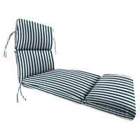 Jordan Manufacturing 74 in. French Edge Outdoor Chaise Lounge Cushion - Stripe Oxford