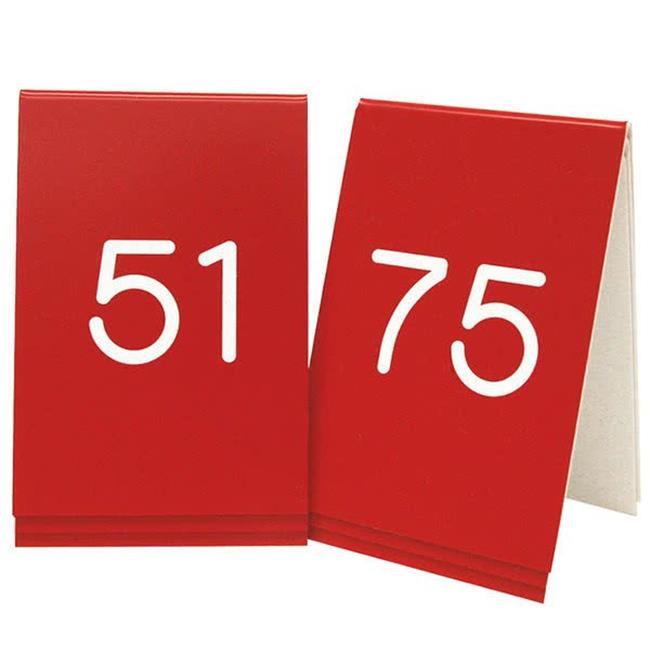 Cal Mil 269C-1 3 x 3 in. Red with White 51-75 Number Tent Set - image 1 of 1