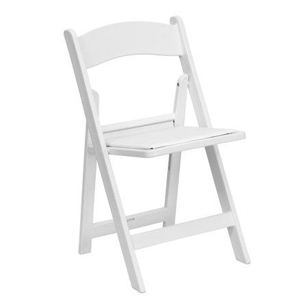 Padded Vinyl - Flash Furniture HERCULES Series 1000 lb. Capacity Resin Folding Chair with Black Vinyl Padded Seat Multiple Colors