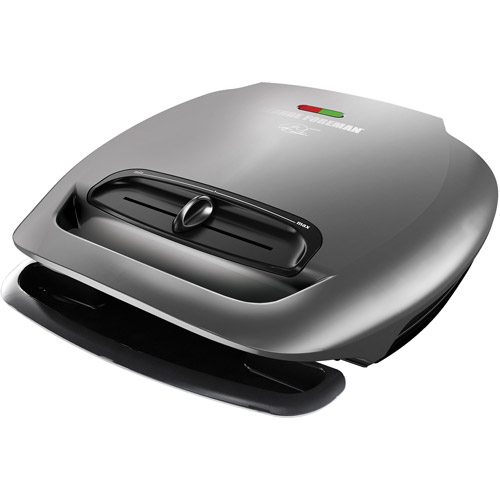 George Foreman 80-sq in 5 Serving Classic-Plate Grill, Gray, GR2081HM