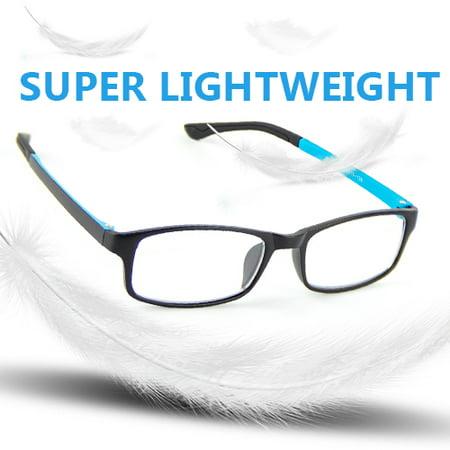 Cyxus Lightweight Computer Gaming Glasses for Blocking Blue Light UV Anti Eyestrain, Rectangle Frame Men/Women (Light Blocking Glasses)