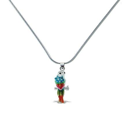 Aqua79 Sparkling Crystal Pendant Necklace, Women Fashion Jewelry – Parrot