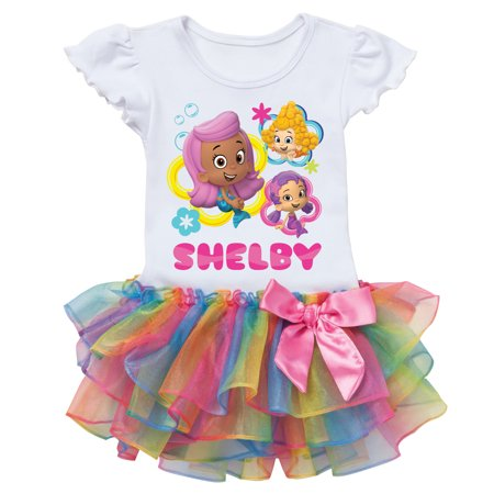 Bubble Guppies Personalized Rainbow Toddler Tutu Tee - 2T, 3T, 4T, - Gil Bubble Guppies