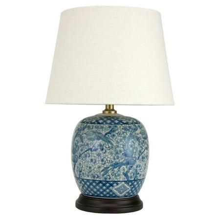 "20"" Classic Blue & White Porcelain Jar Lamp"