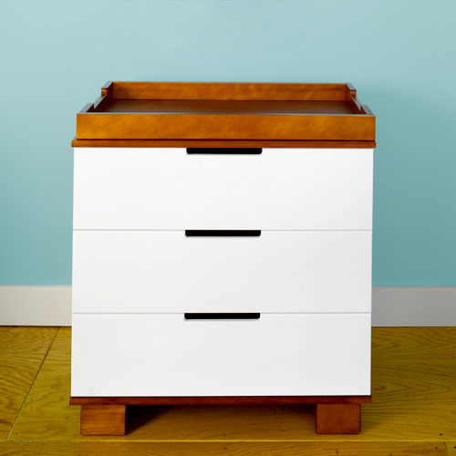 Baby Mod - ParkLane 3-Drawer Changer, Amber and White