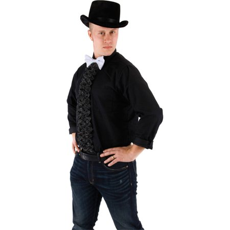 Morris Costumes 24 Inches Long Black Ruffle And White Tie Insta-Tux, Style (50's Style Costumes Australia)
