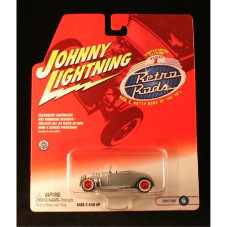EMPEROR 6 * GRAY * 2002 Johnny Lightning RETRO RODS Series 1 Limited Edition Die Cast Vehicle * 1 of only 15,000 (Johnny Lightning Retro Rods)