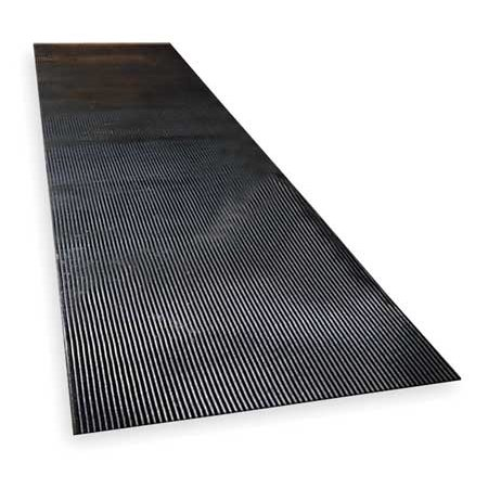 NOTRAX 830C0036-12 Switchboard Mat, Black, Corrugated, 3x12 - Switchboard Mat