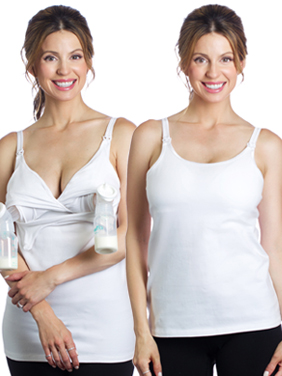 Rumina's Pump&Nurse Essential all-in-one Nursing Tank with built-in Hands-Free Pumping Bra
