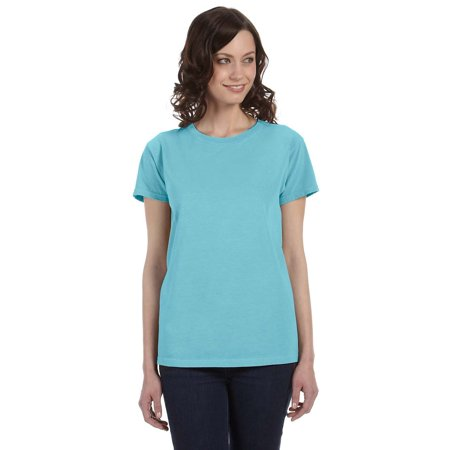 Authentic Pigment 1977 T-Shirt Women's Short Sleeve Dyed Ringspun (Pigment Dyed Short Sleeve Tee)