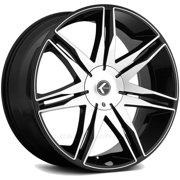 "Kraze KR143 Epic 26x10 5x115/5x120 +18mm Black/Machined Wheel Rim 26"" Inch"