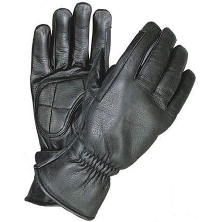 xelement xg1409 mens black premium leather riding gloves with gel palms