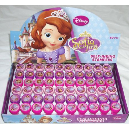 60 PCS Sofia The First Self-inking Stamp Birthday Party Favors Stampers - Sophia The First Party