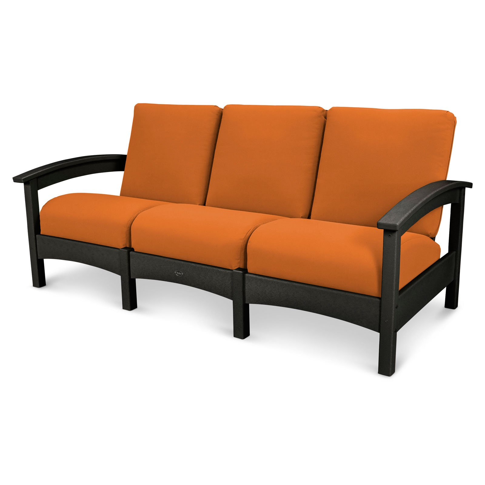Trex Outdoor Furniture Recycled Plastic Rockport Club Sofa