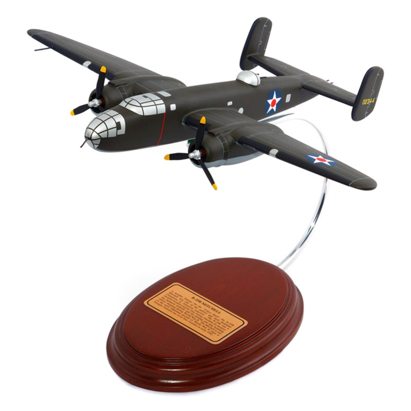 Daron Worldwide Wright R 2600s Engines B-25B Mitchell 1/65 Scale Model Plane