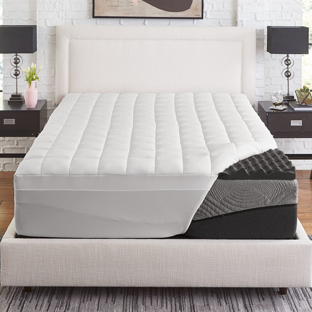 Slumber Solutions  Active 2.5-inch Big Bump Charcoal Memory Foam with 1.5-inch fiber cover