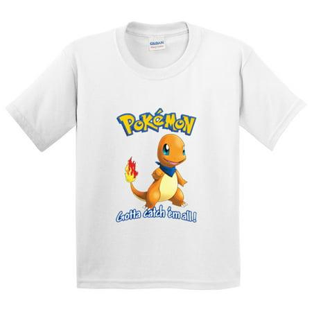 New Way 560 - Youth T-Shirt Pokemon Go Gotta Catch 'Em All Charmander ()