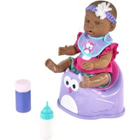 """My Sweet Love 14"""" Baby Doll & Accessories Potty Set, African American, Purple"""