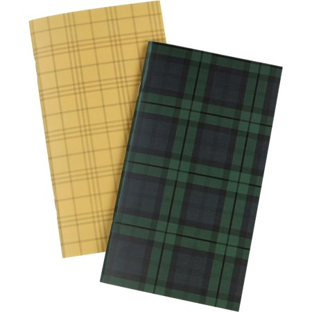 """Echo Park Traveler's Notebook Insert 4.5""""X8.25""""-Black Watch Plaid Lined - image 1 of 1"""
