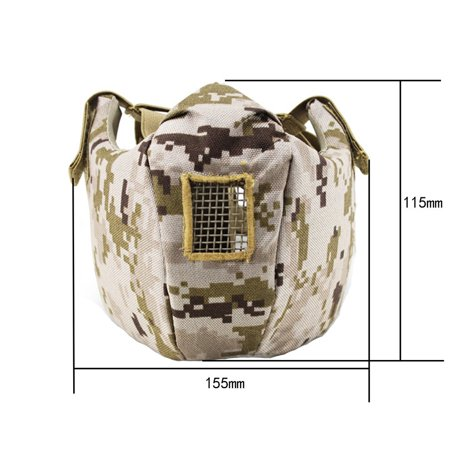 Tactical Mesh Lower Face Protection Half Face Mask Military Adjustable Mask - image 2 of 3