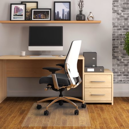 Hardwood Floor Chair Mat - Floortex | PVC Rectangular Chair Mat for Hard Floor | Size 30