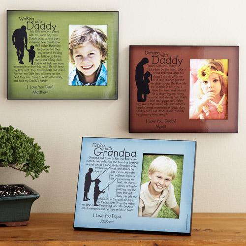 Personalized Memories Photo Frame, Walking with Daddy