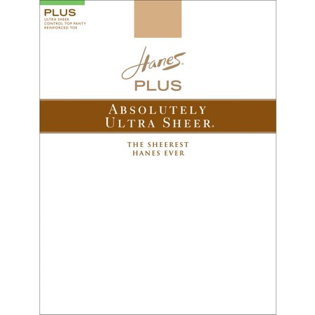 0397356211f Hanes Plus Absolutely Ultra Sheer Women`s Control Top Reinforced Toe  Pantyhose